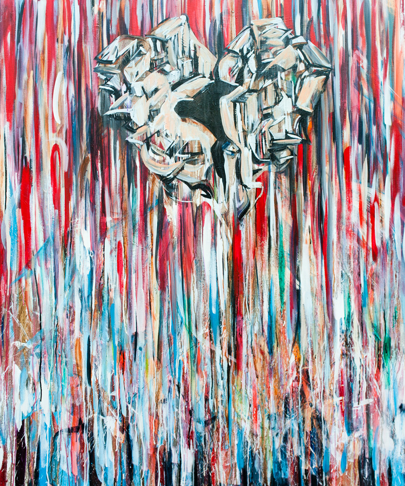 How-can-I-be-different-4x5ft-Mixed-media-on-canvas